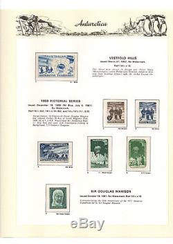 Collection Complète Aat 1957 1991 Timbres, Mnh En Album Vert Ss Hingeless + Slip