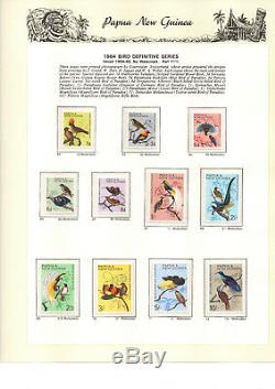Collection Complète Png 1952 1990 Timbres, Mnh Dans 2 Albums Ss Hingeless + Feuillets
