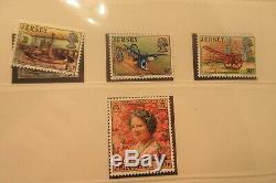 Collection De Jersey Channel Islands Timbres Dans Linder Hingless Stamp Album 145j