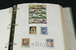 Collection De Pages D'album De Timbres Ww Grand Format, Ajman, Guinée, Russie Ancienne ++