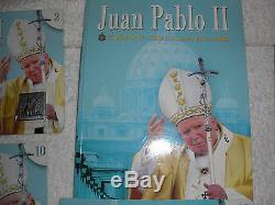 Collection De Phoques Et D'albums Jean Paul II (complet) Tampons En Or Et En Argent
