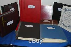 Collection De Timbres-6 Albums De Commémorations Des États-unis, 1 De Cd-rom, Guide D'identification, Etc.