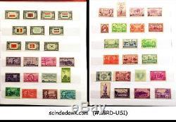 Collection De Timbres Américains Des États-unis Dans Un Album De 1920 À 1969