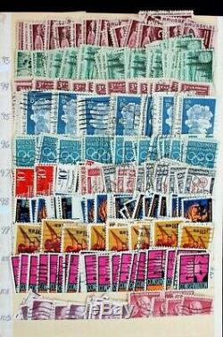 Collection De Timbres Anciens Des États-unis: 5 000+ Albums D'albums Stockés D'elbe Surchargés D'extremley