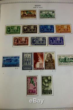Collection De Timbres Anciens Et D'occasion De L'egypte Dans L'album Minkus