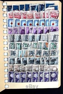 Collection De Timbres Anciens Us 6 000 Et Plus Utilisés Dans Un Album Extrêmement Chargé