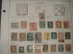 Collection De Timbres Canada Non Triée Sur Les Pages D'albums De Scott International 1859