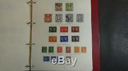 Collection De Timbres De Grande-bretagne Dans L'album Gibbons Avec Environ 800 Timbres Jusqu'à 1980