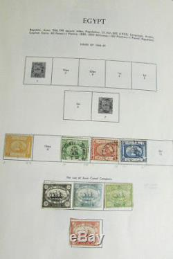 Collection De Timbres De L'égypte Au Début De L'album De Minkus