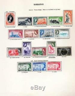 Collection De Timbres Début Qeii À 2 X New Age Albums De Timbres