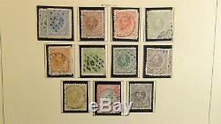 Collection De Timbres Des Pays-bas Dans L'album Schaubek À 65 Avec Environ 550 Timbres Classiques
