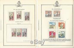 Collection De Timbres Du Cambodge Et Du Laos De 1957 À 1968 Dans Un Album Spécialisé De Minkus