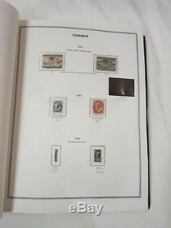 Collection De Timbres Du Canada De 1860 À 1978 Utilisée + Menthe Dans Un Album Sans Charnière Rempli À 80%