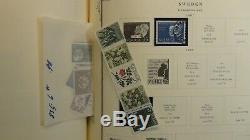 Collection De Timbres En Suède Dans L'album Scott Specialty Avec Est. 1100 To'88 Classics