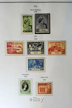 Collection De Timbres Fidji Clean Des Années 1800 Aux Années 1980 Dans Un Album Spécialisé