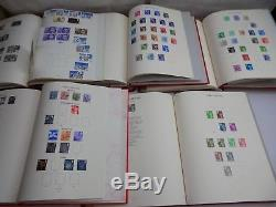 Collection De Timbres GB Éditions Décimales Qeii De 1971 À 2004, Amende De 5 Albums Rouges De Windsor