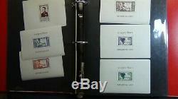 Collection De Timbres Laos Dans L'album Anneau Minkus 3 Avec Est. 462 Stamps'75. $ Haut Chat