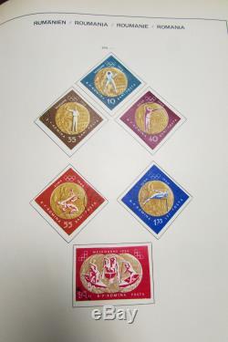 Collection De Timbres Roumanie Utilisée Dans Un Album Schaubek Farci