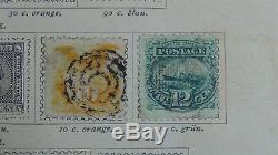 Collection De Timbres Ww Dans L'album Samuel Buch En 1887 Ou Plus Avec 493 Timbres
