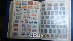 Collection De Timbres Ww En 6 Vol. Albums Harris Chargés De Timbres D'environ 22k