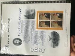 Collection Énorme De Timbres Commémoratifs Américains, 2 Albums, Sceau De Succession Lot