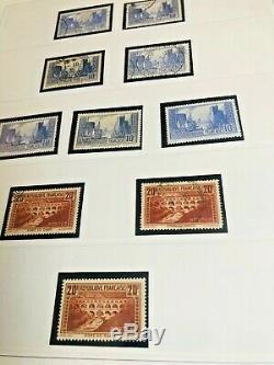 Collection France 3 Albums Timbres De Semi-dt Moderne 1900-1950 À Voir Lettres