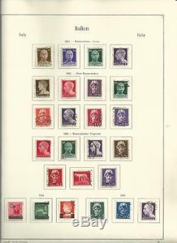 Collection Italie 1944-1995 En Album Et Reliure Kabe, 150 Pages De Timbres Chargés