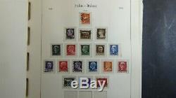 Collection Italie Timbre Épais Dans L'album De Phare Avec 1150 Timbres To'76