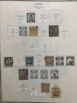 Collection Japon Sur Les Pages D'album De Spécialité Scott