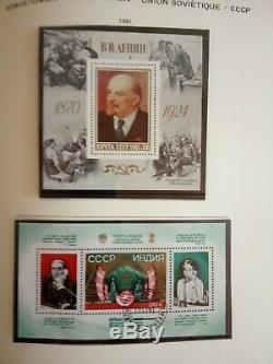 Collection Lot De Timbres Russes Soviettes Neuves Et Employes 1620 In Abria Album