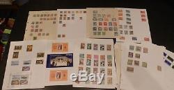 Collection Massive Du Commonwealth Et Du Monde Sur Plus De 1100 Feuilles Mint Used +