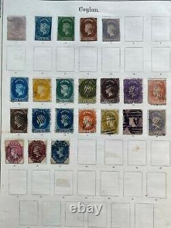 Collection Originale À Vie Dans L'ancien Album Impérial Penny Blacks, Chine Énorme CV