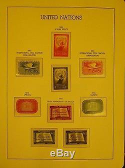 Collection Pratiquement Inutilisée De 1951 À 1985 Dans L'album Des Phares Hingeless