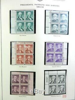 Collection Us Plate Block 19381970 Complet 4 Albums De Minkus / Montures Showgard Wow