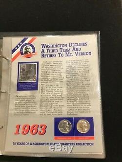 Collection Washington Quarters Argent 25 Years Of Timbres & Bonus Et Album