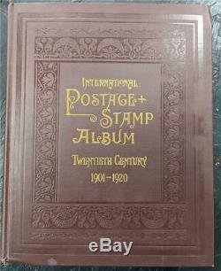 Dans Le Monde Entier Philatéliques Vide Album & Pages 1901-1920 Scott Internation Album