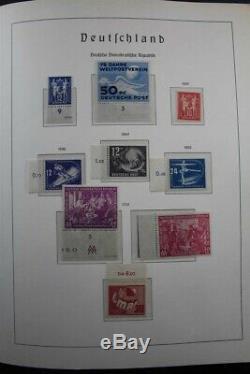 Ddr Deutschland Allemagne Mnh 1949-1990 Collection De Timbres De 3 Albums Du Phare