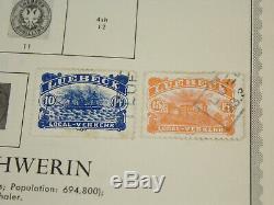 Début Allemagne États Stamp Lot Minkus Album Pages Saxe Hambourg Lubeck Sc # 6