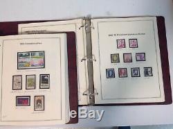 Deux Anciennes Albums De Timbres Collection Heritage Chargés De Timbres États-unis Unhinged