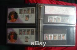 Diana Princess Commemorative Album Plis Premier Jour Timbres Monnaies Postales X 67