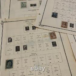 Early Us Stamp Lot Sur Les Pages De L'album Grand Cadeau De Noël Pour Papa