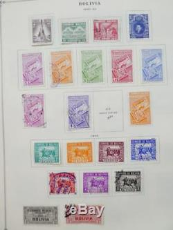 Edw1949sell Bolivia Très Propre, Collection Neuve Sur Les Pages De L'album Cat 1171 $