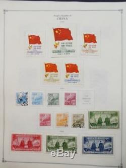 Edw1949sell Chine Prc Mint & Used Collection Sur Les Pages De L'album Entre 1949-1960