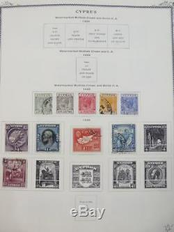 Edw1949sell Chypre Très Belle Collection De Menthe Et D'occasion Sur Pgs Album. Cat $ 1620