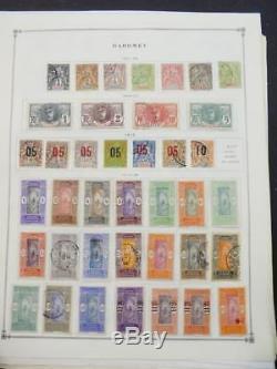 Edw1949sell Dahomey Collection Très Propre De Menthe Et D'occasion Sur Les Pages D'album. Chat 540 $