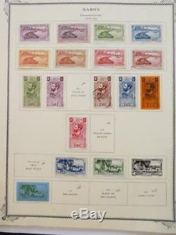 Edw1949sell Gabon Collection Très Propre Mint & Used Sur Les Pages D'album. Chat 873 $