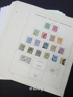 Edw1949sell Grande-bretagne Collection Starter Mint Et Occasion Parfaite Sur L'album Pgs
