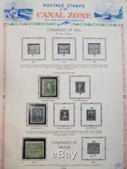Edw1949sell Zone Canal Toute La Collection Mint Og Sur Les Pages D'album. Scott Cat 699 $