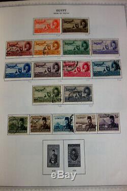 Égypte Early Monnaie Et D'occasion Collection De Timbres Dans Minkus Album