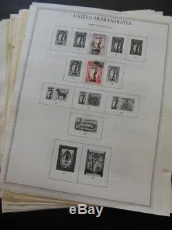 Émirats Arabes Unis De Nice Collection Principalement D'occasion Sur Les Pages D'album Avec Beaucoup De Meilleurs Célibataires & Jeux